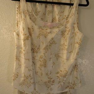 Vintage Victoria's Secret Ivory Floral Pajamas Set